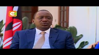 President Kenyatta there is a difference between  demonstrators and rioters