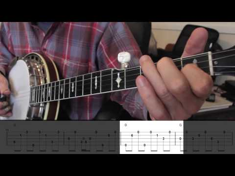 Beginning Bluegrass Banjo - Lesson 29 - How to create a break - 'Little Maggie'