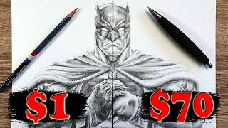 $1 vs $70 PENCIL Art   Cheap vs Expensive!! Which is WORTH IT?