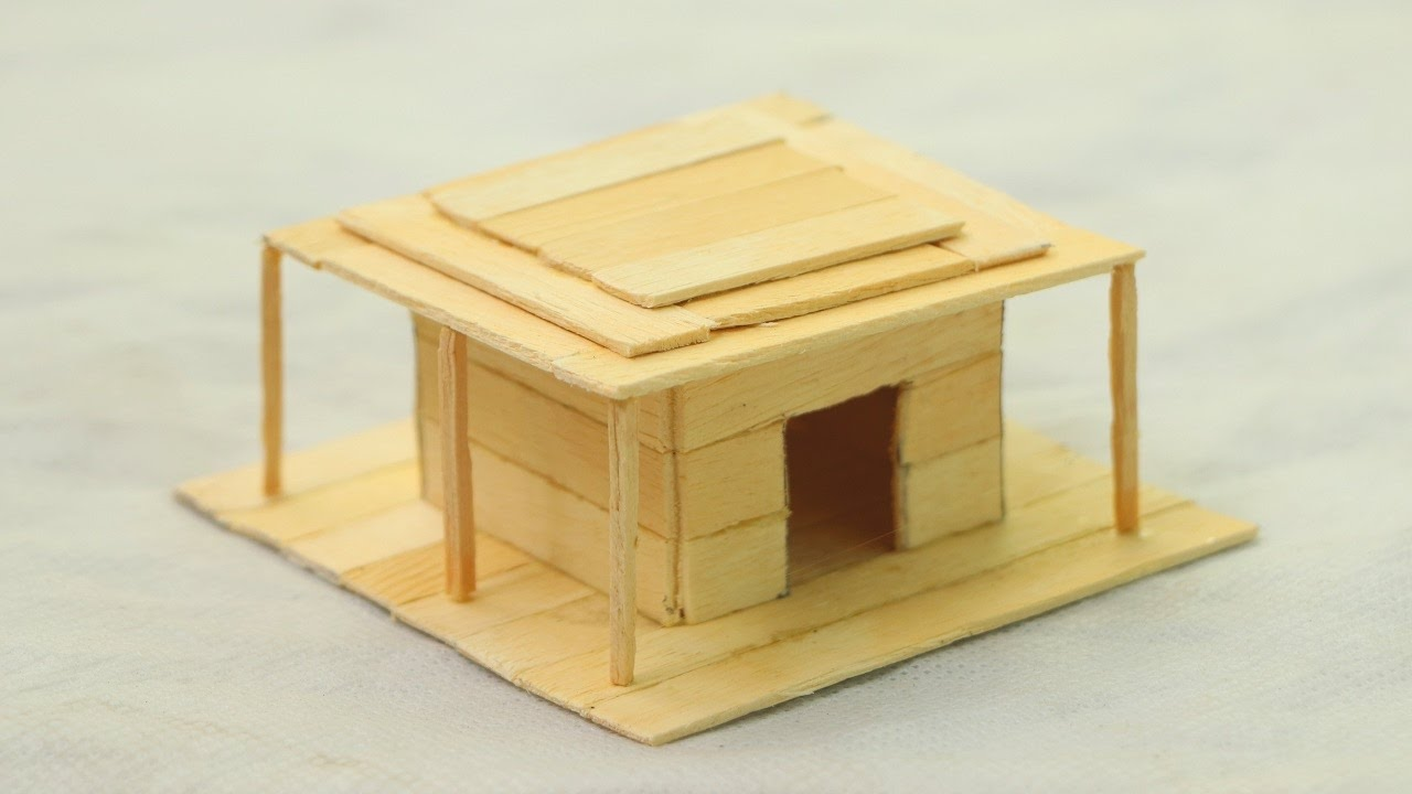 How To Make A Popsicle Stick House Wooden Diy House
