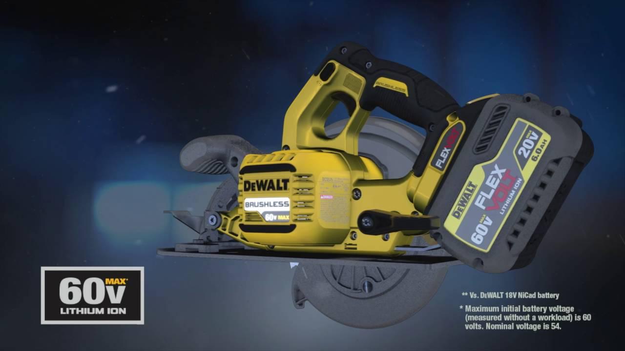 How DEWALT® FLEXVOLT® 20V/60V* MAX Batteries Work on
