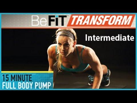15 Min Full Body Pump Workout- Intermediate Level
