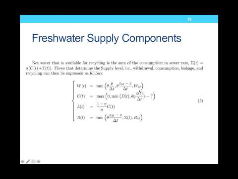 Sustainability Modeling Spring 2013 Lecture 10: Water Management Modeling