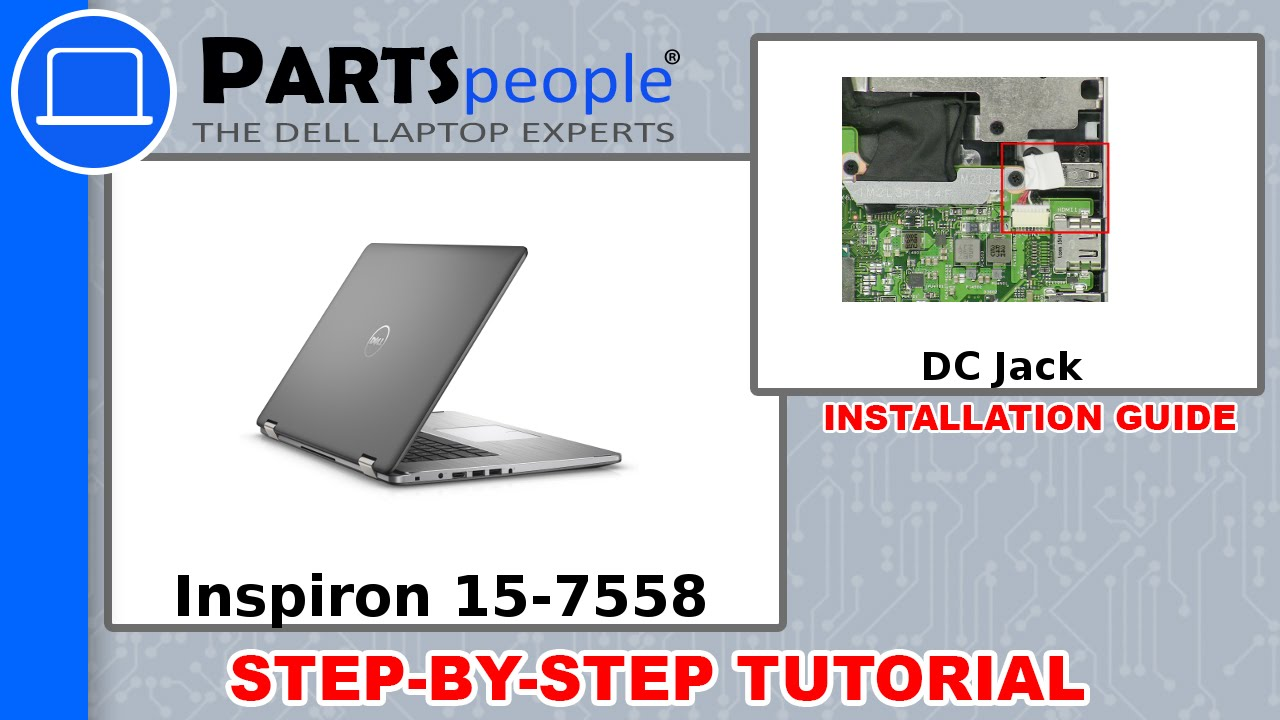 Dell Inspiron 15 7558 P55F001 Laptop DC IN Power Jack Charging Port Socket