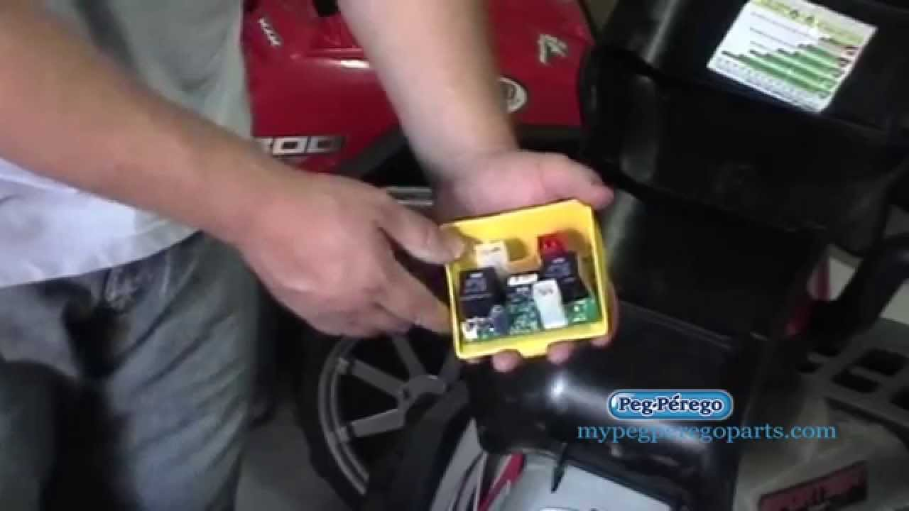 small resolution of 1st check circuit board for peg perego 24 volt polaris 850 twin youtube