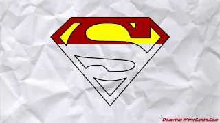 How To Draw The Superman Logo - Drawing With Chris