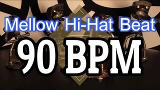 90 BPM Mellow Hi Hat Beat 4 4 Drum Track Metronome Drum Beat