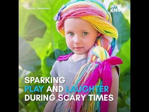 'Magic yarn' wigs bring joy to kids with