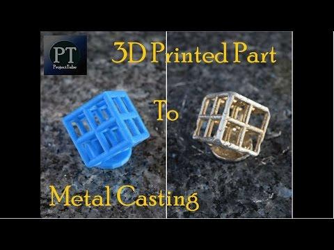 3D Printing to Metal Casting/Lost PLA Lattice Cube