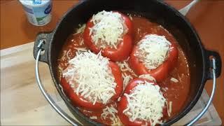 Gefüllte Paprika aus dem Dutch Oven mit Hindernissen......