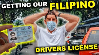 FOREIGNERS react to getting FILIPINO DRIVERS LICENSE - different than expected!
