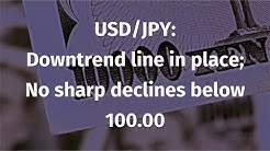 USD/JPY: Downtrend line still in place; but not sharp declines expected below 100.00