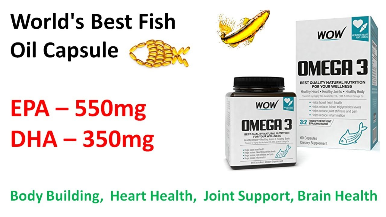 World's Best Fish Oil Capsule | WOW Omega - 3 Fish Oil Capsule Supplement  Review in Hindi