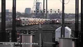 NJ Transit Super Bowl trains railfanning at Secaucus Junction