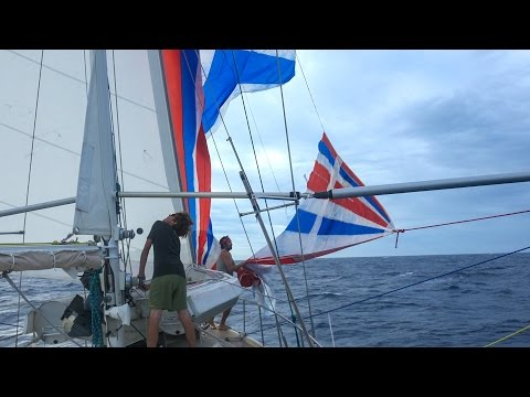 We Blew Up our Favorite Sail- Sailing Vessel Delos Ep. 123