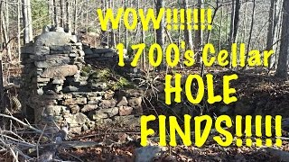 WOW! Metal detecting long lost VT Colonial Cellar Hole, relic hunting F70 T2