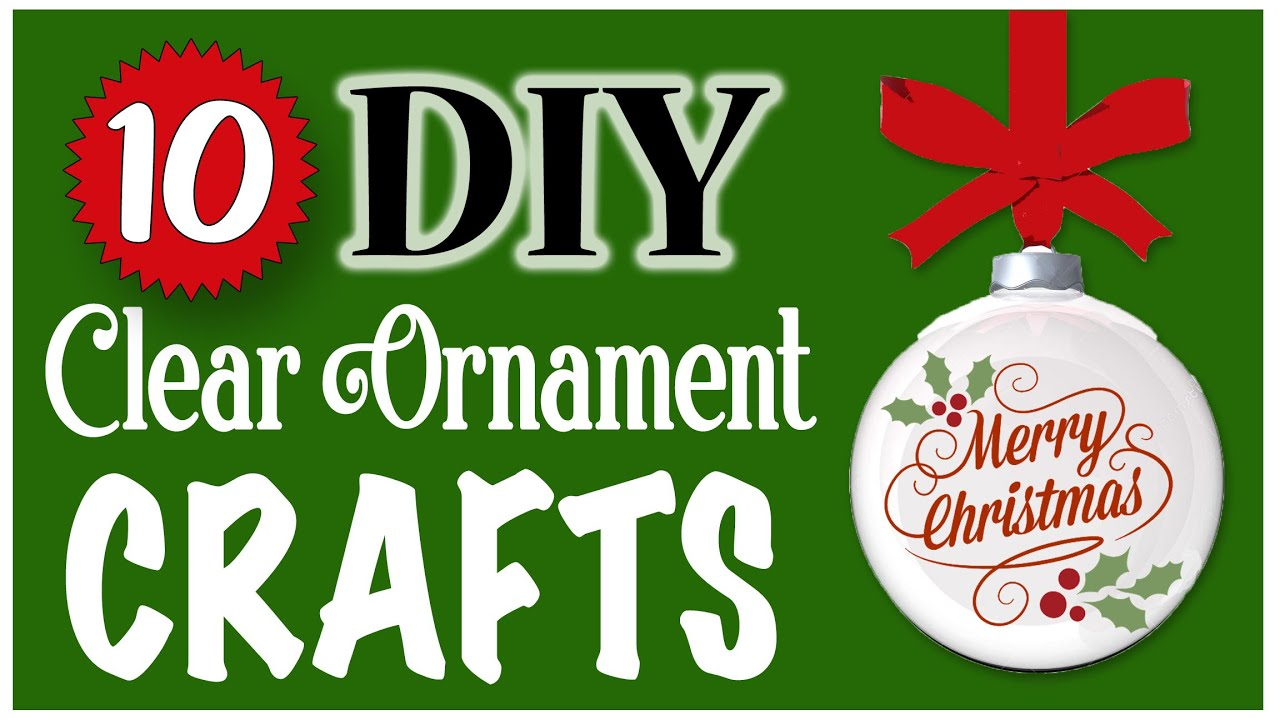 10 EASY Christmas Clear Ornament Crafts!🎄 Dollar Tree DIY