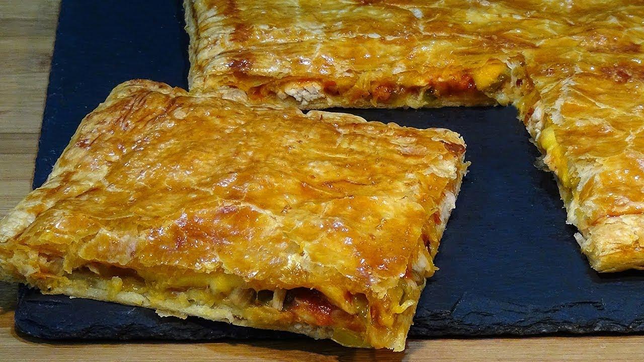 Receta Empanada De Pollo Con Masa De Hojaldre Receta Súper Fácil Recetas De Cocina Youtube