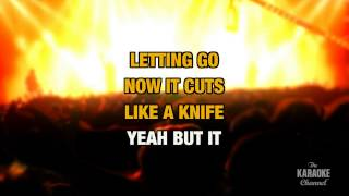 """Cuts Like A Knife in the Style of """"Bryan Adams"""" with lyrics (with lead vocal)"""