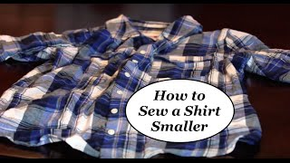 How to make a shirt smaller EASY DIY The Rachel Dixon sewing tutorial  alterations