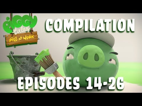 Angry Birds | Piggy Tales | Pigs at Work - Compilation Ep14-26