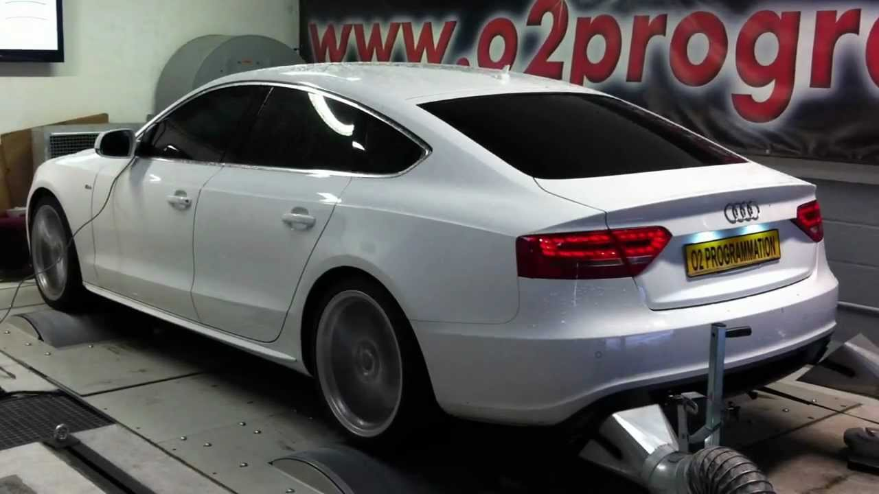 test dyno audi a5 2 7 tdi 190ch 2010 r el 200 258ch reprogrammation moteur o2programmation. Black Bedroom Furniture Sets. Home Design Ideas