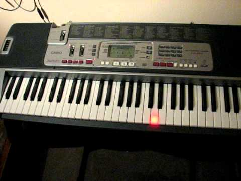 Teclado casio lk 210 - YouTube