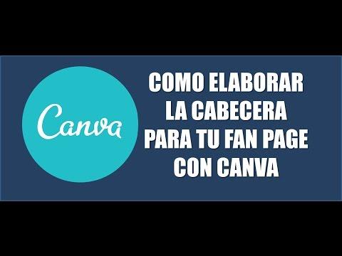 CURSO DE CANVA - COMO CREAR UNA PORTADA PARA TU FAN PAGE DE FACEBOOK