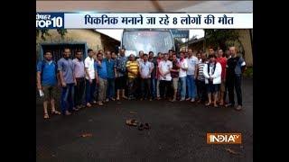 Bus falls down a mountain road in Ambenali Ghat in Raigarh, 8 dead