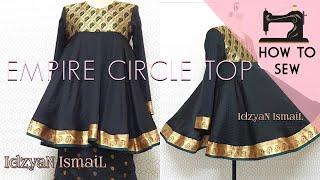DIY Empire Circle Top / Circle Dress / Doll Top / How to Sew