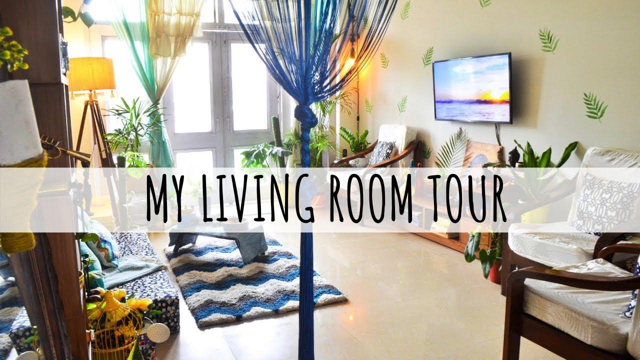 My Updated Living Room Tour   Indian Organised Home Tour   इंडियन अपार्टमेंट टूर एंड डेकोरेशन