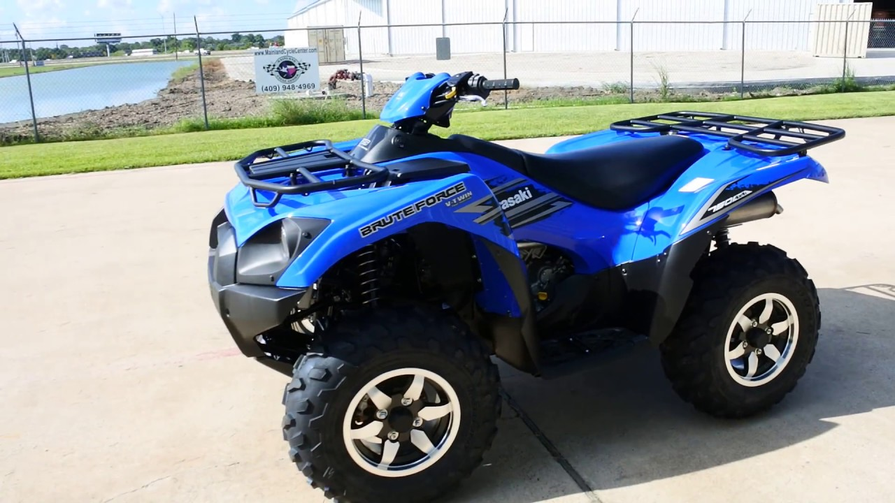hight resolution of  9 999 2018 kawasaki brute force 750 in vibrant blue overview and review