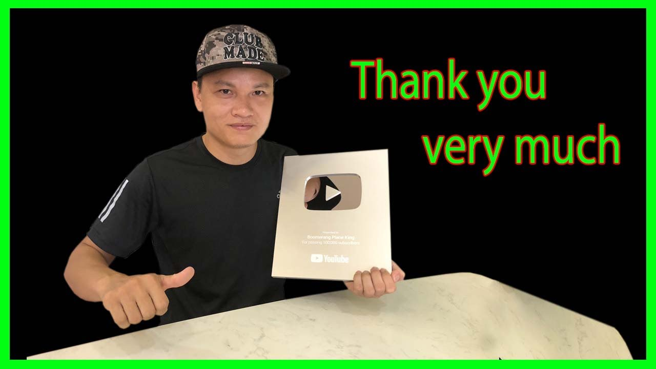 (YouTube Silver Play Button) Thank you very much |  Boomerang plane king