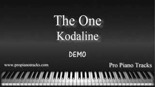 The One - Kodaline Piano Accompaniment Karaoke/Backing Track