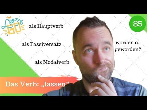 """[85]  Das Verb """"lassen"""" - Verwendung, Bedeutung, Wortstellung"""