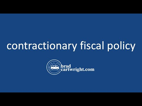 Fiscal Policy Series:  Contractionary Fiscal Policy