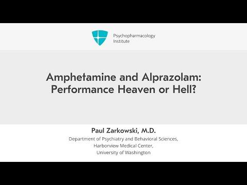 Amphetamine and Alprazolam: Performance Heaven or Hell?