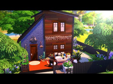 TINY MODERN BOHEMIAN || The Sims 4: Speed Build thumbnail