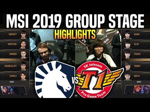 TL vs SKT Highlights MSI 2019 Group Stage Day 3 - Team Liquid vs SKT T1 Highlights MSI 2019 Groups