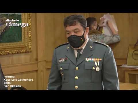 VÍDEO | O capitán da Guardia Civil José Luís Casas, medalla de honra do Concello de Xinzo
