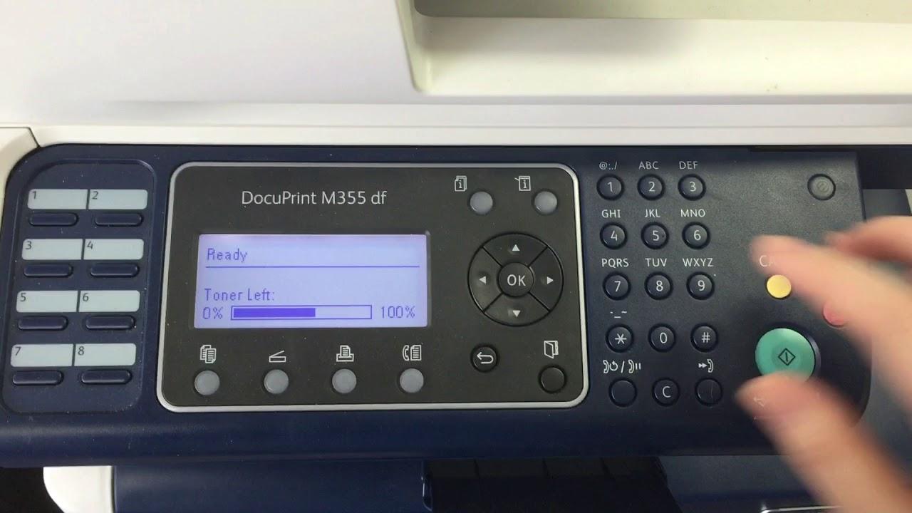 Printers 1 Fuji Xerox Email Size Setting Youtube