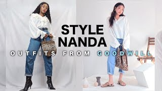 Recreating STYLENANDA Outfits from GOODWILL