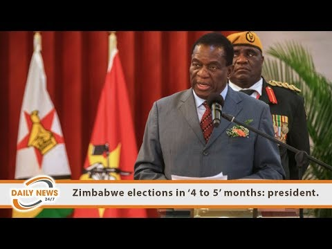 Zimbabwe elections in '4 to 5' months: president.