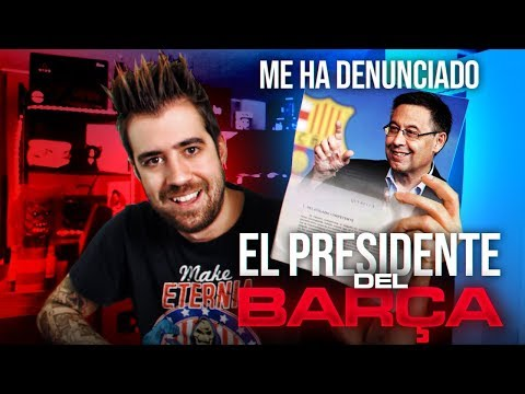 "O youtuber Auronplay: ""Denuncioume o presidente do Barça"""