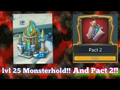 Lords-Mobile | Monsterhold To Lvl 25! And Unlocking Pact 2!
