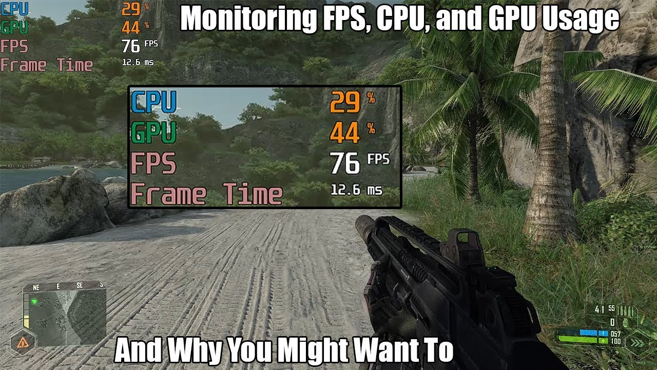 How To Monitor Frame Rate, CPU Usage and GPU Usage in Games