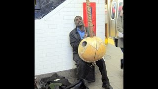 New York City Subway Musician West African Kora