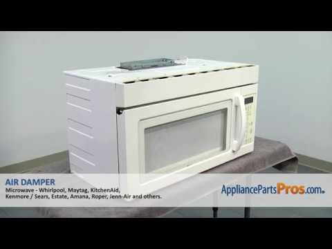 how to whirlpool kitchenaid maytag air damper w10843943
