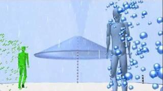 Walking vs. Running in Rain Simulation