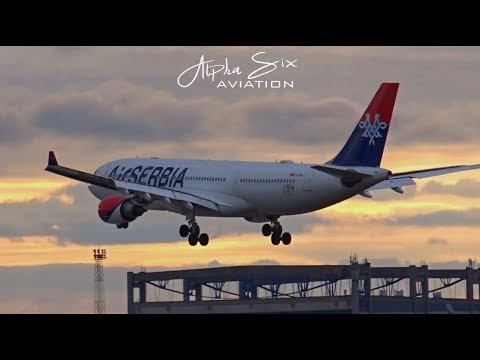 Air Serbia Airbus A330 Arrival from New York JFK @ Belgrade Airport Nikola Tesla